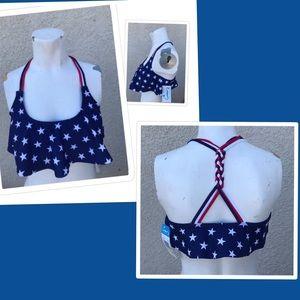 California waves sizeS & M American flag bikini